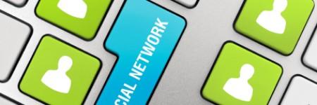 Social Networking Keyboard Keys